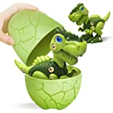 Starpony Firmament Take Apart Dinosaur Toys with Dinosaur Eggs DIY STEM Building Toys Set for Kids 3-7, Green T-Rex