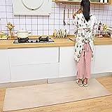 SHANJEキッチンマットクリア60×270cm半透明素材PVC、厚さ1.5mmの防水・滑り止めカーペットは拭き取り可能、床保護マットはお手入れが簡単で自由にカットできるので、キッチンや靴棚などにご利用いただけます