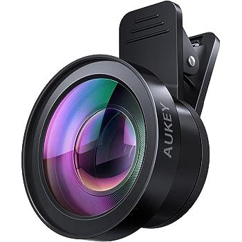 AUKEY スマホレンズ カメラレンズキット セルカレンズ 2in1 (15×マクロ、0.45倍広角レンズ) クリップ式レンズ自撮りレンズ iPhone、Samsung、Sony、Android スマートフォン、タプレットなどに対応 PL-WD06