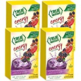 True Lemon (Energy Drinks) Wild Blackberry Pomegranate, Instant Powdered Drink Mix, 6 Packets per Box, 0.57 Oz, Pack of 4