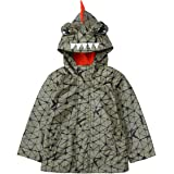 Rokka&Rolla Boys' Lightweight Raincoat Hooded PU Waterproof Windbreaker Active Outdoor Rain Jacket Anorak