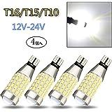 TORIBIO 4個 87連 T15 T16 W16W 921 912通用 LED ホワイト爆光 スーパー明るい ポジションランプ LED キャンセラー内蔵 3014 LED素子 12V 24V兼用 後退灯/バックランプ/テールランプ