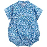 ACVIP Baby Girl's Cherry Blossoms Japanese Kimono Style Short Sleeves Rompers Bodysuit