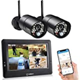 "sequro GuardPro CCTV Camera System DIY Long Range Home Security Camera System Outdoor Surveillance DVRs, Portable 7"" Touchscr"