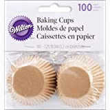 Wilton Unbleached Mini Baking Cups, 100 Count (415-1865)