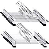 tkone ズボンハンガー スカートハンガー クリップ すべらない ハンガー 頑丈 物干し 強力クリップ 多機能ハンガー ブラック (20)