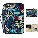 BTSKY New Multi-Functional A4 Document Bags Portfolio Organizer-Waterproof Travel Pouch Zippered Case for Ipads, Notebooks, P