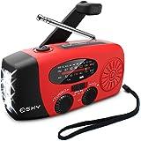 [Upgraded Version] Emergency Radio, Esky 3W LED Flashlight Hand Crank Radio, Self Powered AM/FM NOAA Weather Radio, Portable