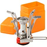 """FRIFLY Camping camp stoves Backpacking Stove, Piezo Ignition Battery Unneeded, Windproof, Pots up to 8"""", Fits Butane Propane"""