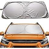 Car Windshield Sun Shade, Proxima Direct Sun Protector for Car Safe Windshield Sunshade Maximum UV Sun Protection-Foldable Ca