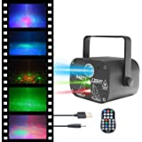 FantasyAttics LED Night Light Projector - Smart Laser Disco Light With 64 Light Combinations - Sound Control Party Lights Wit