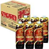 【Amazon.co.jp限定】 キーコーヒー リキッドコーヒー 天然水 無糖 テトラプリズマ 1000ml ×6本