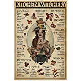 Eeypy Kitchen Witchery Witch for Vintage Poster Metal Tin Signs Iron Painting Plaque Wall Decor Bar Cat Club Novelty Funny Ba