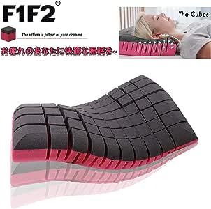 F1F2 The cubes 無重力枕 安眠人気枕 快眠枕 枕 両面使用性 新仕様肩こり首こり防止頚椎サポート 健康枕通気性抜群いびき軽減横向き 仰向け快適37x59x10cm