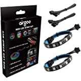 PC RGB LED Strip Light, 2pcs Magnetic LED Strip for M/B with 12V 4-Pin RGB LED headers, Compatible with ASUS Aura, MSI Mystic