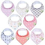 Baby Bandana Drool Bibs for Girls - Super Absorbent Organic Cotton Bandana Bibs - Baby Drool Bib - Teething Bibs - Handkerchi
