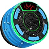 Bluetooth Speakers, BassPal IPX7 Waterproof Portable Wireless Shower Speaker with LED Display, FM Radio, Suction Cup, Light S
