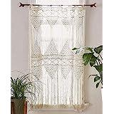 "Flber Macrame Curtain Macrame Wall Hanging macramé Handwoven Boho Wedding Backdrop Kitchen Curtains,50""x 75"""