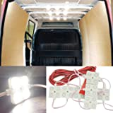 12V 40 LEDs Van Interior Light Kits, Ampper LED Ceiling Lights Kit for Van RV Boats Caravans Trailers Lorries Sprinter Ducato