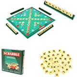 Letter Matching Word Board Scrabble Board Game Table Classic,Letter Matching Word Scrabble Original Travel for Kids Adults Fa