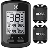 XOSS G+ GPS サイコン サイクルコンピュータ ワイヤレス サイクリングコンピュータ USB充電式 バッテリー内蔵 Bluetooth ANT+対応 ロードバイクサイクルコンピューター サイクリングスピードとケイデンスセンサー (セット2)