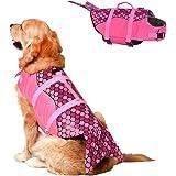 Doglay Dog Life Jacket, Adjustable Dog Lifesaver Pet Life Preserver with Rescue Handle for Small Medium and Large Dogs