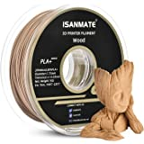 iSANMATE Wood Filament 1.75mm, PLA+ Wood Filament 1.75mm, 3D Printer Filament 1 kg Spool (20% Wood Powder+80% PLA+)…