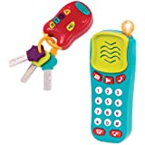 Battat BT2629Z Combo Set - Light & Sound Phone + Keys - Toddlers Ages 0+ (2 Piece)