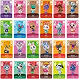 24pcs NFC Tag Cards for Animal Crossing New Horizons Switch/Switch Lite/Wii U with Case