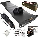 H&Yo スライドボード スライダーボード スライディングボード 万能スライドディスク付属 自宅で効率よく有酸素運動