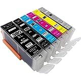 ZAZ BCI-381XL+380XL/6MP canon 互換インク BCI-381XL (BK/C/M/Y/GY) + 380XLPGBK 6色マルチパック BCI-381 BCI-380 1年保証付 XL大容量タイプ ICチップ付 残量表示可能 対応機種: PIXUS TS8230 TS8130 TS6230 TS6130 TR9530 TR8530 TR7530 TR703(380-6-1)