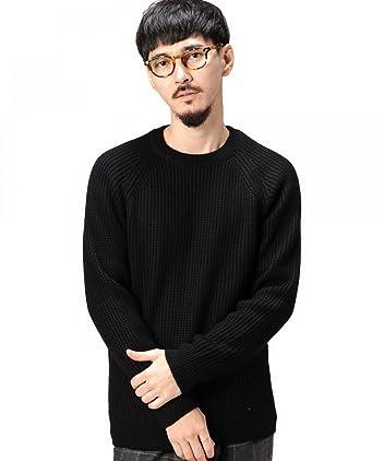 Wool Rib Crewneck Sweater 1213-106-3012: Black