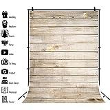 Qinunipoto 写真撮影用 背景布 背景 木の板の背景 布 写真 摄影 黄色の木の板 テクスチャ木製ボード 撮影用 人物撮影 子供の写真 バルーンの背景 子供撮影 写真館 撮影スタジオ用 パーティー ビニール製 1.5x2.1m
