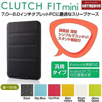 【幡ヶ谷カバン製作所】CLUTCH FIT mini(7~8インチタブレットPC用薄型軽量 タブレットスリーブケース) ブラック