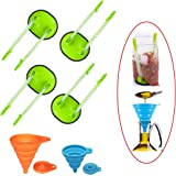 YIYATOO 4 pcs Baggy Rack and 2 pcs Folding Funnel, Clip Food Storage Bags onto Holder, Best Opener for Freezer & Storage Bagg