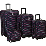 Rockland Luggage Garden 4 Piece Luggage Set, Icon, One Size