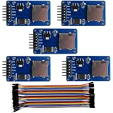 Geekstory Micro SD Card Module Mini TF Card Adapter Reader Module and Write Module with SPI Interface Driver Module + 40pcs F