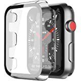 Smilelane 対応Apple Watch Series 3 / Series 2 42mm 用 ケース, PCガラス保護カバー 対応アップルウォッチシリーズ 3/2 42mm 用 ケース(透明)