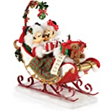Department 56 Possible Dreams Disney Mickey and Minnie Mouse Sleigh Bells and Mistletoe Figurine, 11 Inch, Multicolor,6006012