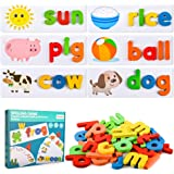 Colorshow See and Spelling Words Matching Letter Puzzles Games Toys for Boys Girls Toddlers - Prefect Learning Gifts