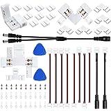 LED Strip Light Connectors Kit 2-Pin 8mm LED Strip Solderless Connectors Set for SMD 3528/2835 Single Color LED Strip Lights,