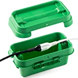 SockitboX - Weatherproof Indoor and Outdoor Electrical Power Cord Connection Enclosure Box ? Small Green