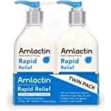 AmLactin Rapid Relief Restoring Lotion + Ceramides Twin Pack, (2) 7.9 Ounce Bottles, Paraben Free (0781712890)