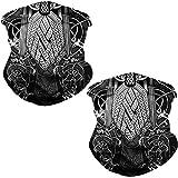 GLUDEAR 3D Print Seamless Bandana Multifunctional Headwear Women Men for Dust Wind Sun Protection