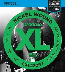 D'Addario ダダリオ ベース弦 ニッケル バランスドテンション Long Scale .040-.095 EXL220BT 【国内正規品】