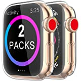 [2 Pack] BRG Case for Apple Watch Screen Protector 40mm 44mm 38mm 42mm,iWatch Series 5 4 3 Soft TPU HD Clear Ultra-Thin Overa