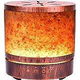Autumn Rain アロマ加湿器 天然岩塩内蔵 400ml容量 超音波式 空気加湿 7色LEDライト 雰囲気作り 静音 空焚き防止 タイマー機能 寝室やオフィスに適合