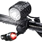 Super Bright Bike Light USB Rechargeable, Te-Rich 1200 Lumens Waterproof Road/Mountain Bicycle Headlight and LED Taillight Se