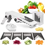 Mueller Austria V-Pro 5 Blade Adjustable Mandoline Slicer ? White/Grey