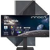 モニター ディスプレイ 29インチ ウルトラワイド Innocn 21:9 2560x1080 Type-C対応 縦横回転 ピボット対応 PIP/PBP 画面分割 広い色域 HDR IPSパネル ブルーライト軽減 3辺狭額縁 HDMI DP Hub